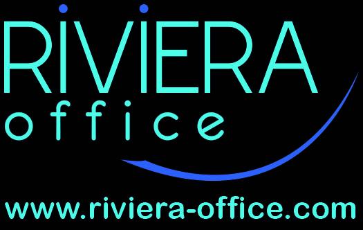 logo riviera bleu Fonds noir