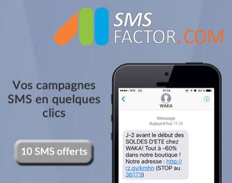 Encart publicitaire SMSFactor
